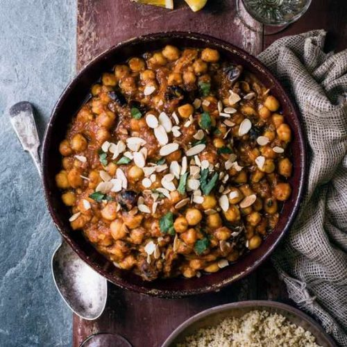 chickpea and Mediterranean vegetable tagine